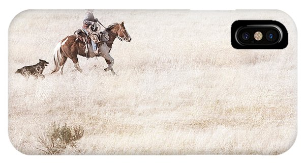 Cowboy And Dog IPhone Case