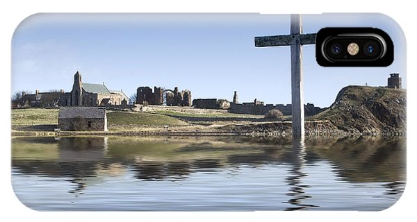 Cross In Water, Bewick, England IPhone Case