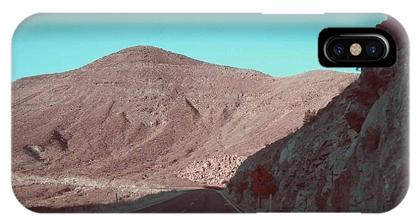 Death Valley iPhone Case - Death Valley Road 2 by Naxart Studio