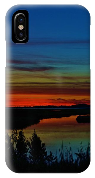 Deep Marshland Sunset IPhone Case