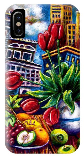 Down Town Tulips IPhone Case