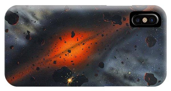 Early Solar System, Artwork Phone Case by Richard Bizley