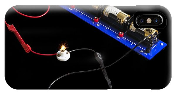 Battery D iPhone Case - Electrical Circuit by