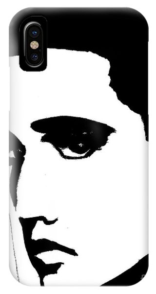 Elvis In Black And White IPhone Case