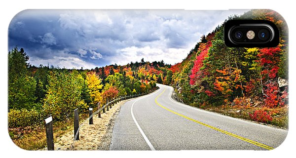 Road iPhone Case - Fall Highway by Elena Elisseeva