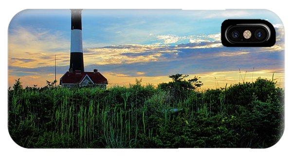 Navigation iPhone Case - Fire Island Lighthouse by Rick Berk