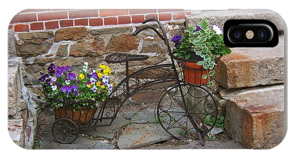 Flower Bicycle Basket IPhone Case
