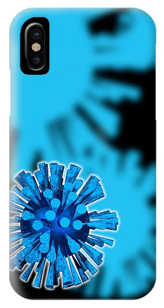 Flu Virus Particles, Artwork Phone Case by Victor Habbick Visions