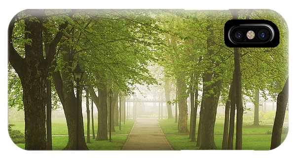Green iPhone Case - Foggy Park by Elena Elisseeva