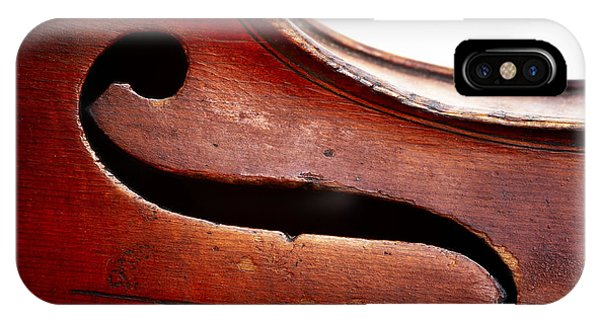 Violin iPhone X Case - G Clef by Michal Boubin