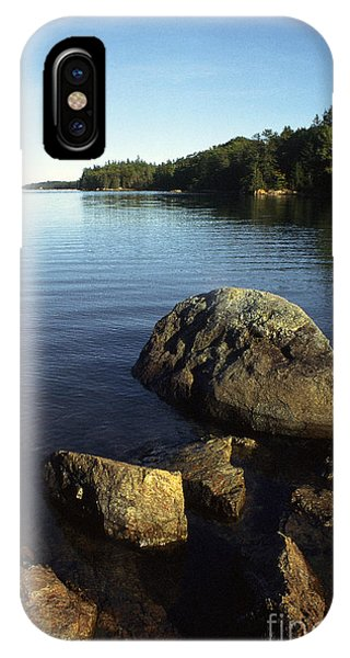 Granite iPhone Case - Greenlaw Cove Deer Isle Maine by Thomas R Fletcher