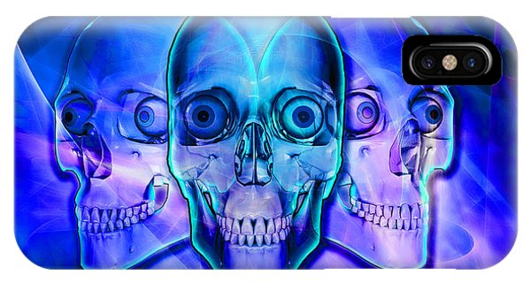 Illuminated Skulls IPhone Case