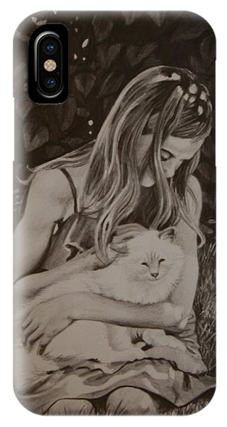 IPhone Case featuring the painting Kitty Love by Tammy Taylor