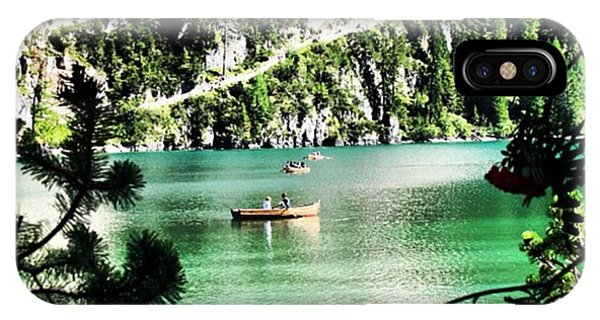 Transportation iPhone Case - Lake Of Braies - South Tyrol by Luisa Azzolini