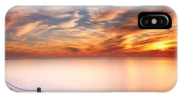 iPhone Case - Long Exposure Of Last Night's Sunset by Larry Marshall