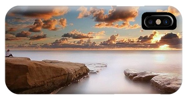 iPhone Case - Long Exposure Sunset At A San Diego by Larry Marshall