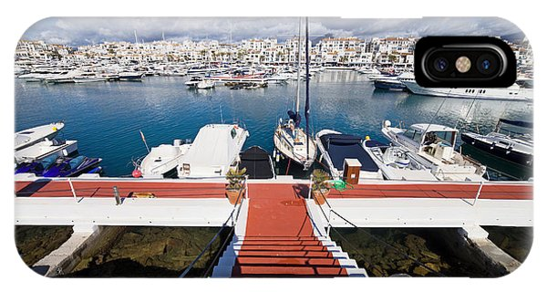 Powerboat iPhone Case - Marina In Puerto Banus by Artur Bogacki