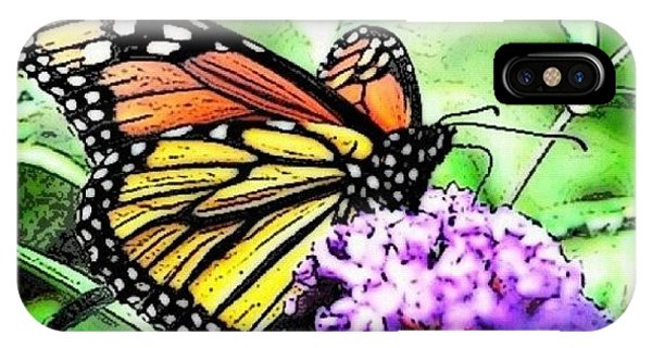 Orange iPhone Case - Monarch Butterfly by Edward Sobuta