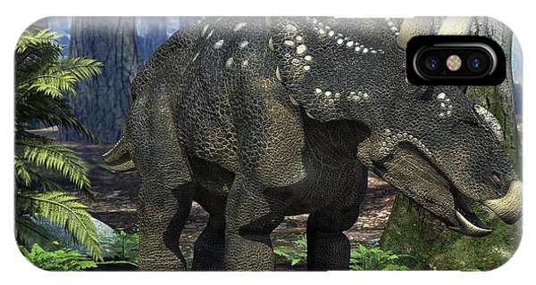 Diceratops iPhone Case - Nedoceratops Dinosaur, Artwork by Roger Harris