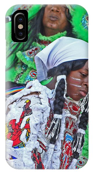 New Generation Of Mardi Gras Indians In New Orleans IPhone Case