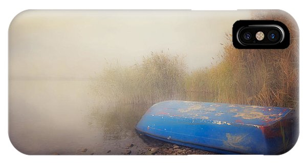 Left iPhone Case - Old Boat In Morning Mist by Joana Kruse