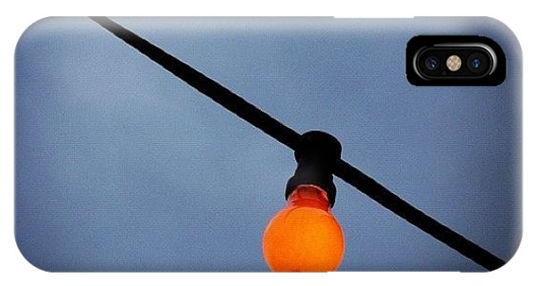 iPhone Case - Orange Light Bulb by Matthias Hauser