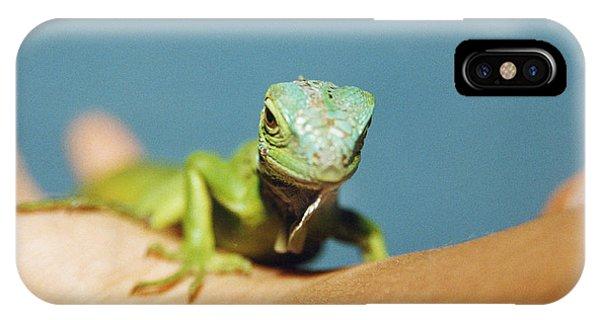 Pet Iguana Phone Case by Cristina Pedrazzini