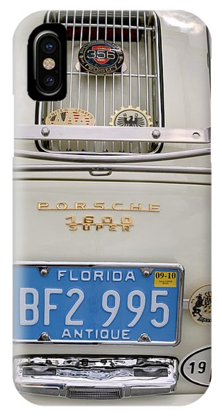 Porsche 1600 Super 1959 Rear View. Miami IPhone Case
