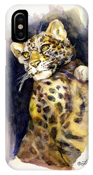 Portrait Of A Young Snow Leopard IPhone Case