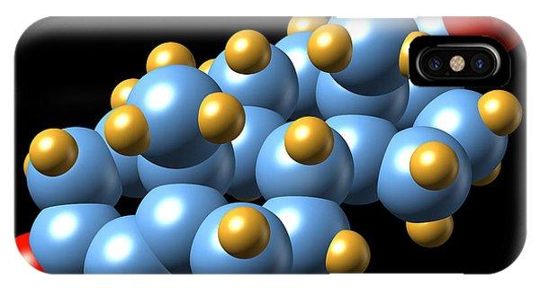 Progesterone Hormone, Molecular Model Phone Case by Dr Mark J. Winter