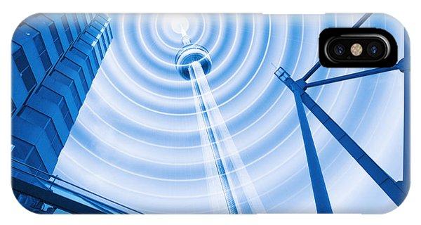 Radio Tower With Radio Waves Phone Case by Mehau Kulyk