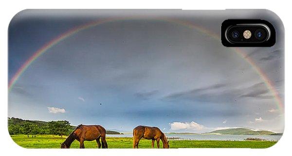 Rainbow Horses IPhone Case