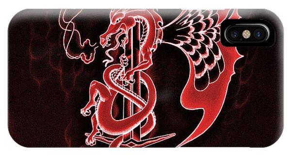 Fire Ball iPhone Case - Red Dragon Sword II by Robert Ball