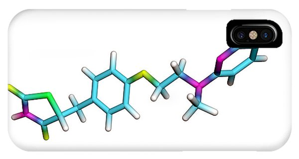 Rosiglitazone Diabetes Drug Molecule Phone Case by Dr Tim Evans
