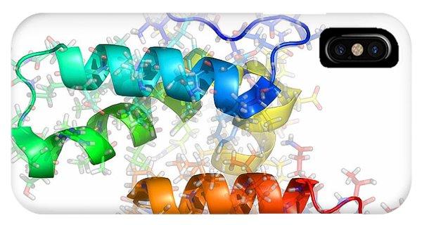 Rous iPhone Case - Rous Sarcoma Virus Capsid Protein by Laguna Design