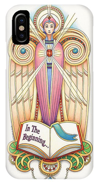 Scroll Angel - Ionica IPhone Case