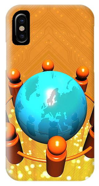 Social Networking, Conceptual Image Phone Case by Victor Habbick Visions