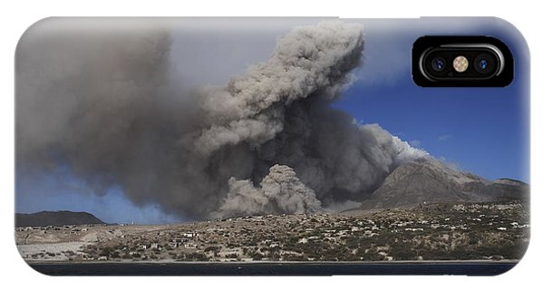 Pyroclastic Flow iPhone Case - Soufriere Hills Eruption, Montserrat by Martin Rietze