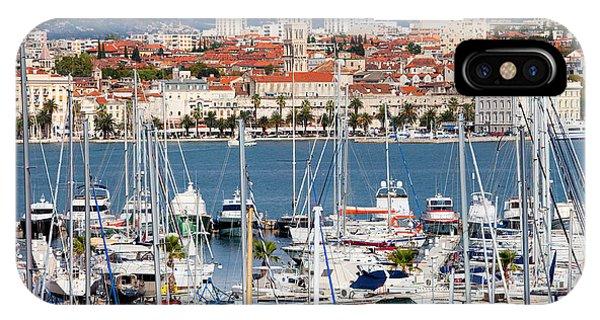 Powerboat iPhone Case - Split Cityscape by Artur Bogacki