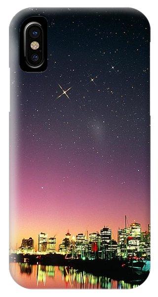 Starry Sky Over Vancouver Phone Case by David Nunuk