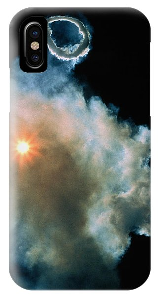 Mt Etna iPhone Case - Steam Ring by Dr Juerg Alean