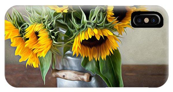 Sunflower iPhone X / XS Case - Sunflowers by Nailia Schwarz