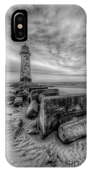 Navigation iPhone Case - Talacre Lighthouse by Adrian Evans