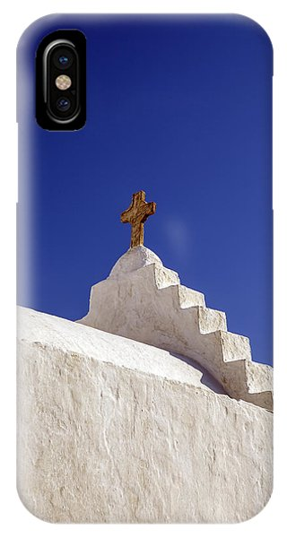 Greece iPhone Case - The Cross by Joana Kruse