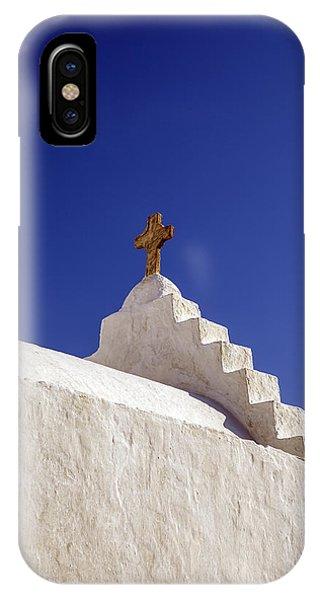 Greece iPhone X Case - The Cross by Joana Kruse