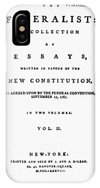 The Federalist, 1788 IPhone Case