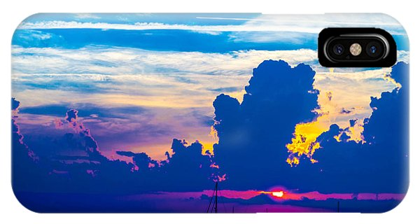 The Purple Sunset IPhone Case