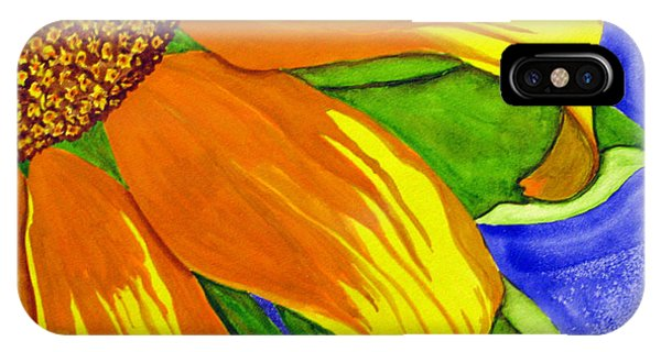 This Is No Subdued Sunflower IPhone Case