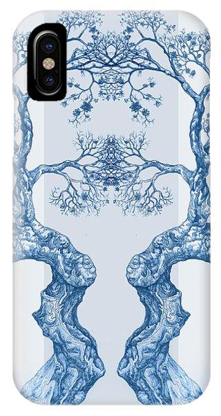 Tree 14 Blue 6 IPhone Case