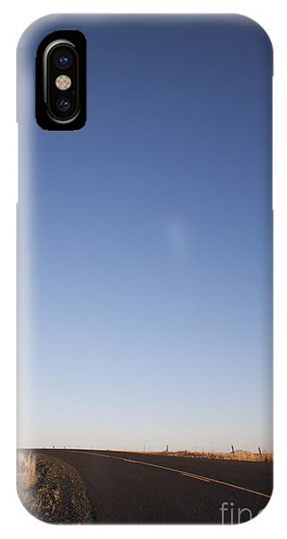 Two Lane Road Between Fields Phone Case by Jetta Productions, Inc
